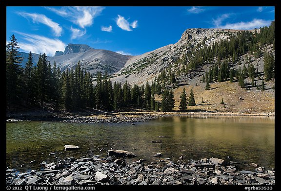 Mt Wheeler above Stella Lake. Great Basin National Park (color)