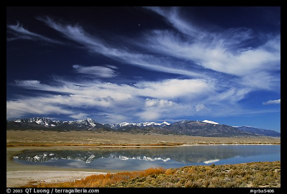 Snake Range seen from the East above a pond. Great Basin National Park (color)
