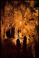 Room with delicate stalagtites, Lehman Cave. Great Basin National Park ( color)