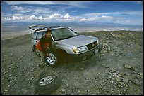 Flat tire on Mt Washington. Great Basin National Park ( color)