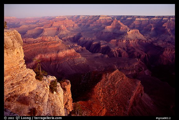 View from Yvapai Point, sunrise. Grand Canyon National Park (color)