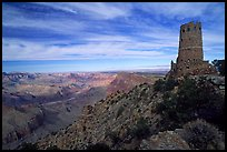 Watchtower, late afternoon. Grand Canyon National Park, Arizona, USA. (color)