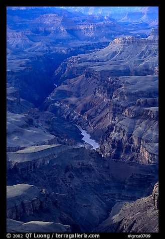 Granite Gorge, afternoon. Grand Canyon National Park (color)