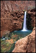 Mooney Falls. Grand Canyon National Park, Arizona, USA. (color)
