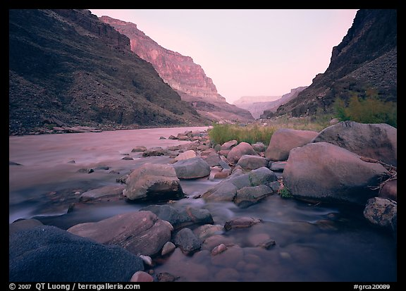 The Colorado River at Tapeats Creek,  dawn. Grand Canyon  National Park (color)
