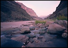 Colorado River at Tapeats Creek, dawn. Grand Canyon National Park, Arizona, USA.