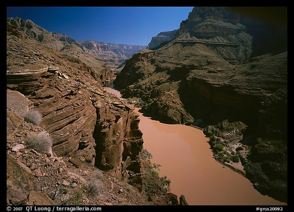 Colorado River between Tapeats Creek and Deer Creek. Grand Canyon  National Park (color)