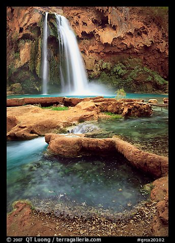 Havasu Canyon near Hualapai Hilltop. Grand Canyon National Park (color)