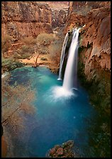 Havasu Falls, Havasu Canyon. Grand Canyon National Park, Arizona, USA. (color)