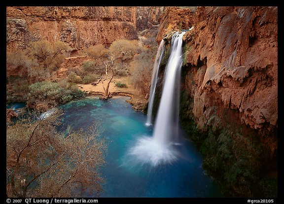 Havasu Falls, Havasu Canyon. Grand Canyon National Park (color)