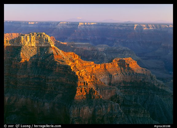 View from Point Sublime, sunset. Grand Canyon  National Park (color)