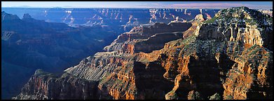 Canyon walls from North Rim. Grand Canyon National Park (Panoramic color)