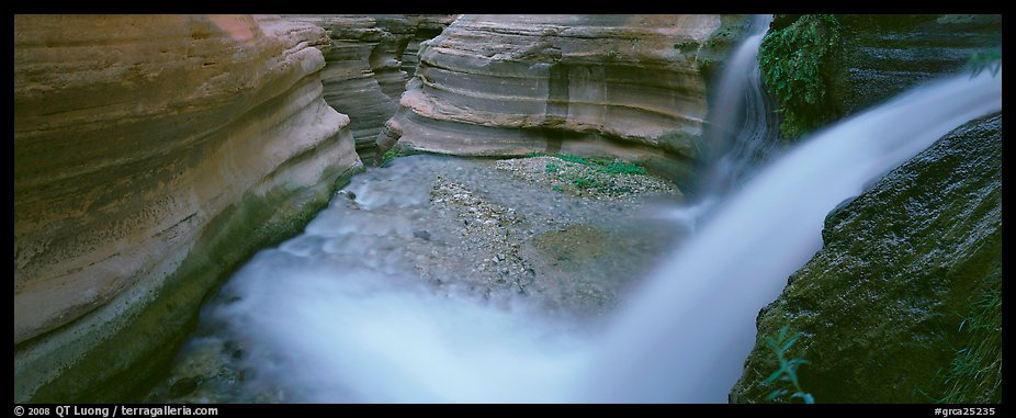 Deer Creek cascading into gorge. Grand Canyon National Park (color)