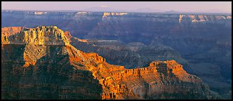 Landscape from Point Sublime. Grand Canyon National Park (Panoramic color)