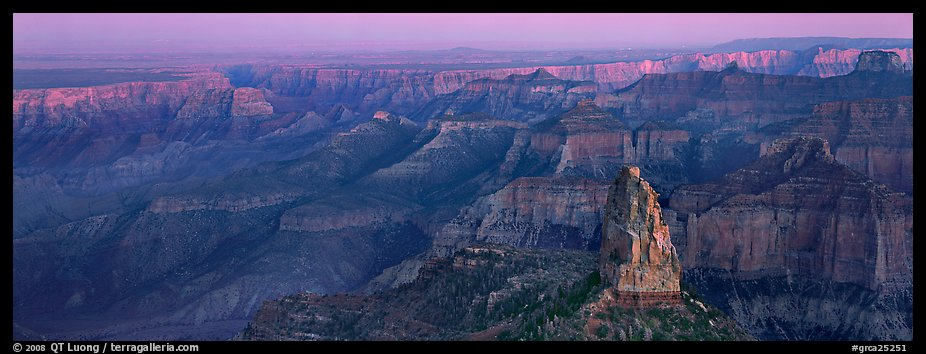 Scenery seen from Point Imperial. Grand Canyon National Park (color)
