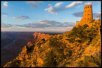 Indian Watchtower and canyon at sunset. Grand Canyon National Park ( color)