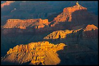 Shadows and ridges from Moran Point. Grand Canyon National Park ( color)