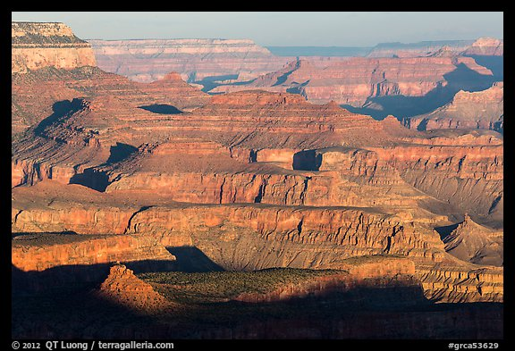 Ridges, Moran Point. Grand Canyon National Park (color)