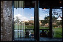 South Rim, El Tovar Hotel restaurant window reflexion. Grand Canyon National Park ( color)