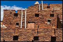 Facade of Hopi House. Grand Canyon National Park, Arizona, USA. (color)