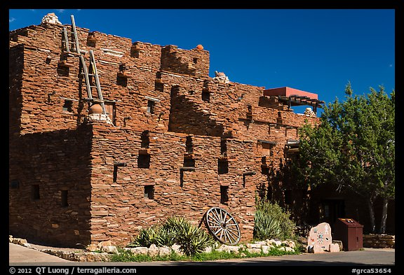 Hopi House in pueblo style. Grand Canyon National Park (color)