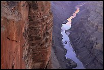 Colorado River and Cliffs at Toroweap, late afternoon. Grand Canyon National Park ( color)