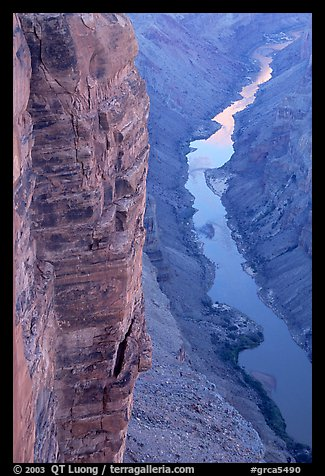 Cliffs and Colorado River, Toroweap. Grand Canyon National Park (color)