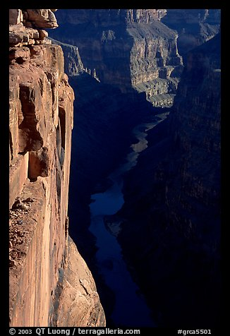 Colorado River and Cliffs at Toroweap, early morning. Grand Canyon National Park (color)