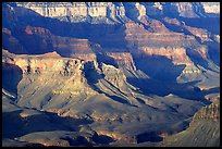 Distant cliffs seen from Cape Royal, morning. Grand Canyon National Park, Arizona, USA. (color)