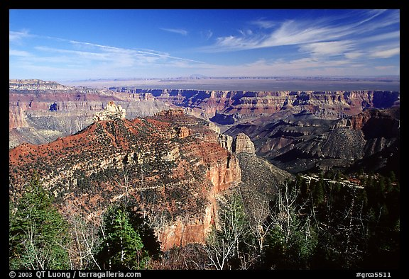 View from Roosevelt Point, morning. Grand Canyon National Park (color)