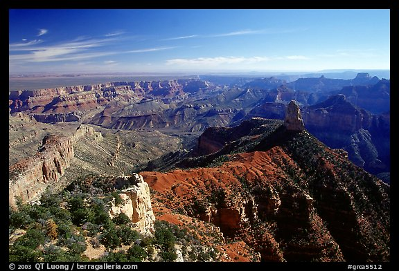 View from Point Imperial, morning. Grand Canyon National Park (color)