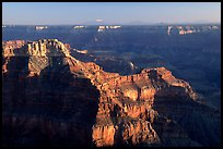 View from Point Sublime, sunset. Grand Canyon  National Park, Arizona, USA.