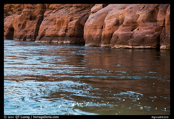 Sandstone and Colorodo River. Grand Canyon National Park (color)