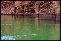 Redwall limestone reflected in green waters, Colorado River. Grand Canyon National Park ( color)
