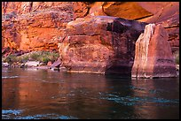 Red rocks and reflections in Colorado River. Grand Canyon National Park ( color)