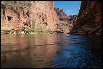 Colorado River flowing between steep cliffs in Marble Canyon. Grand Canyon National Park ( color)