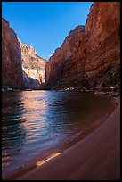 Beach and Redwall canyon walls, Marble Canyon. Grand Canyon National Park ( color)