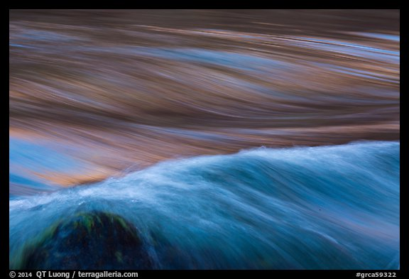 Fast moving water in rapids. Grand Canyon National Park (color)