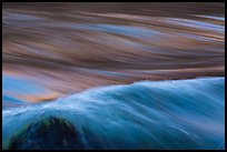 Fast moving water in rapids. Grand Canyon National Park ( color)