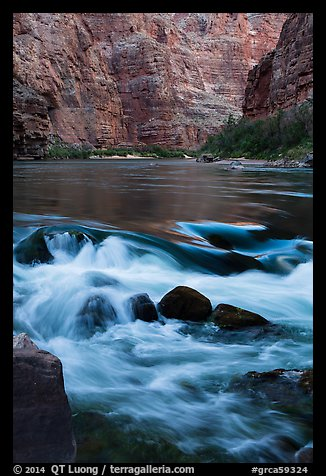 Colorado River rapids. Grand Canyon National Park (color)