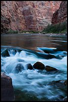 Colorado River rapids. Grand Canyon National Park, Arizona, USA.
