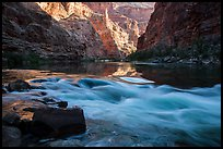 Rapids and reflections, early morning, Marble Canyon. Grand Canyon National Park ( color)