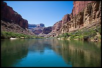 Cliffs and reflections, Marble Canyon. Grand Canyon National Park ( color)