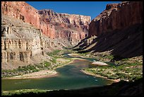 Colorado River at Nankoweap, afternoon. Grand Canyon National Park ( color)