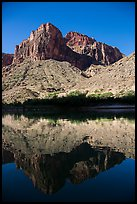 Buttes and reflections in Colorado River. Grand Canyon National Park ( color)