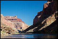 Cliffs, shadows, blue water and sky, Marble Canyon. Grand Canyon National Park ( color)