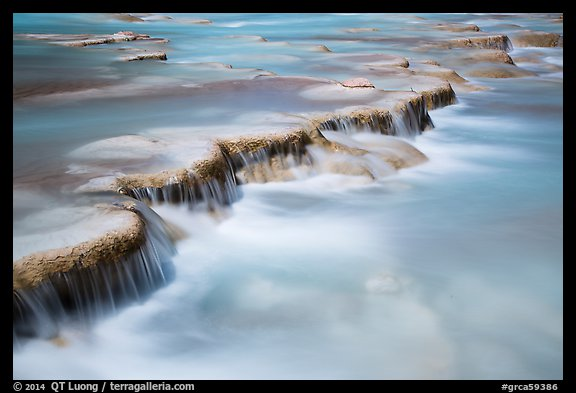 Little Colorodo River flows over travertine terraces. Grand Canyon National Park (color)