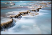 Little Colorodo River flows over travertine terraces. Grand Canyon National Park ( color)