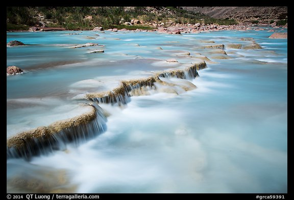 Travertine terraces of the Little Colorado River. Grand Canyon National Park (color)