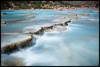 Travertine terraces of the Little Colorado River. Grand Canyon National Park, Arizona, USA.